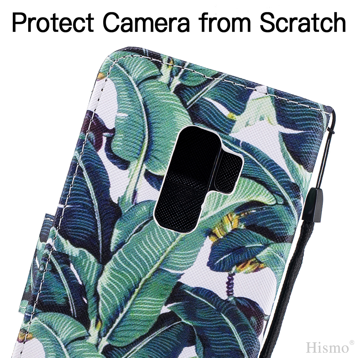 Painting-Magnetic-Leather-Card-Slot-Stand-Case-Cover-For-Samsung-J7-A8-S9-Plus