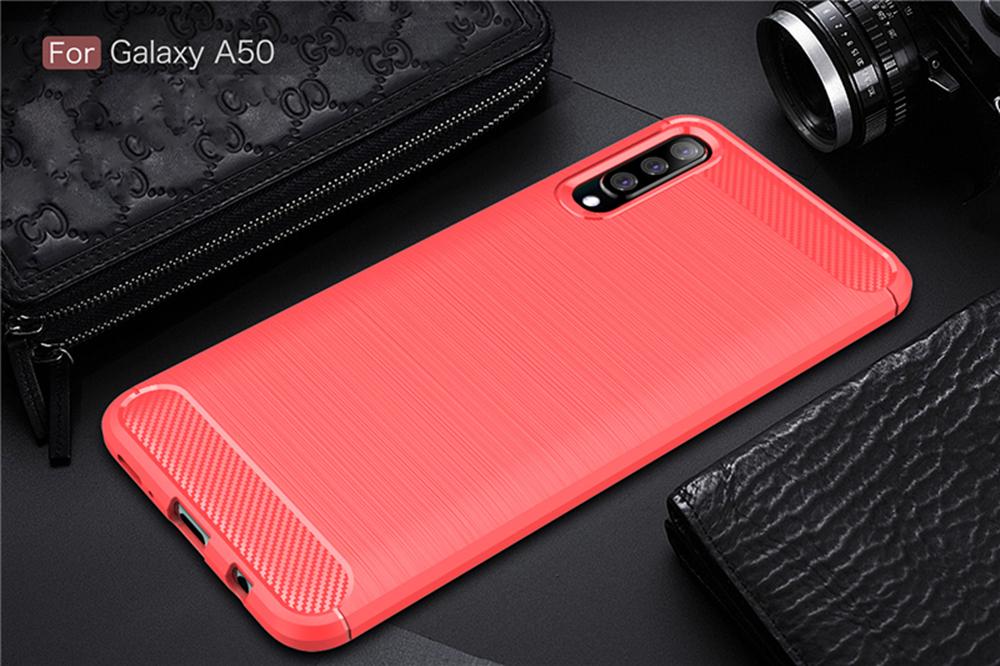 For-Samsung-Galaxy-A70-Case-A50-A30-M20-A10-Soft-Carbon-Fiber-Ultra-Slim-Cover miniature 14